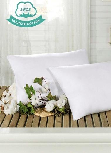 Eponj Home 2'li Pamuk Yastık 50x70 Cm Beyaz